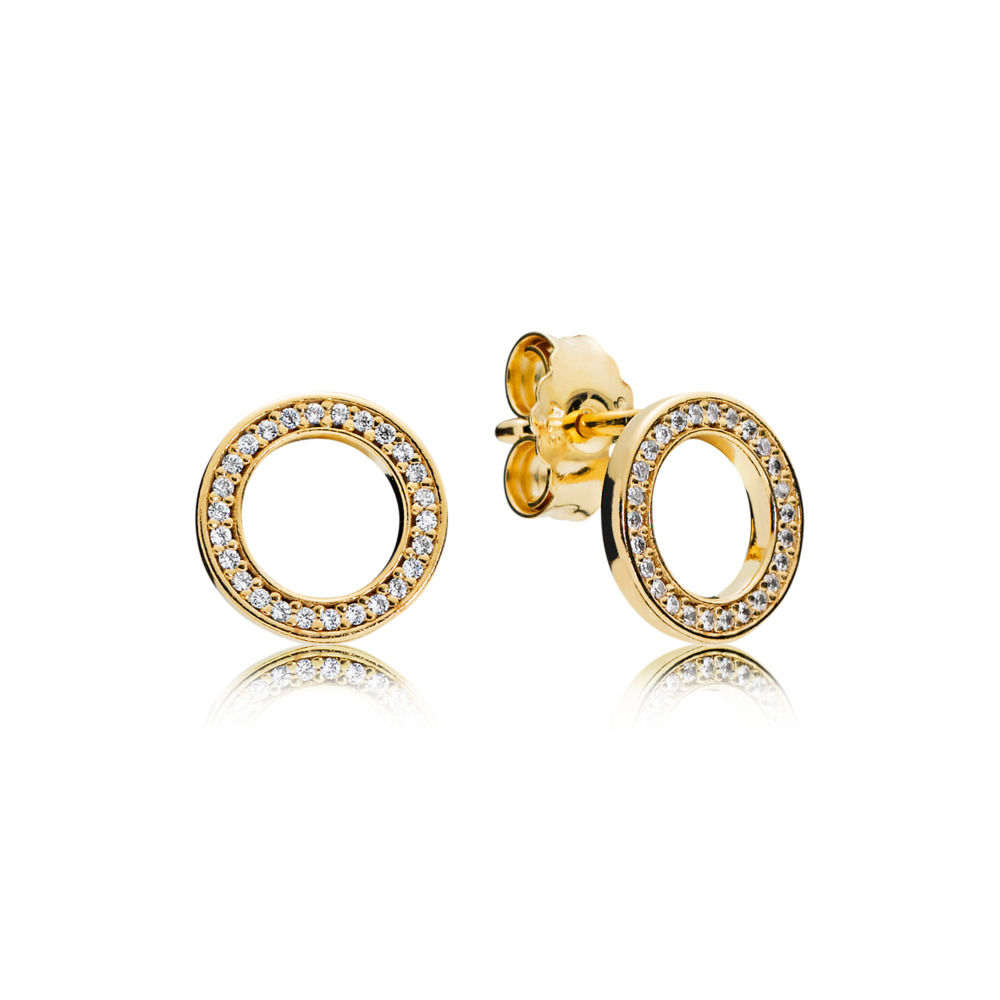 267112CZ PANDORA Shine PANDORA Forever Earring Studs spring 2018 new collection