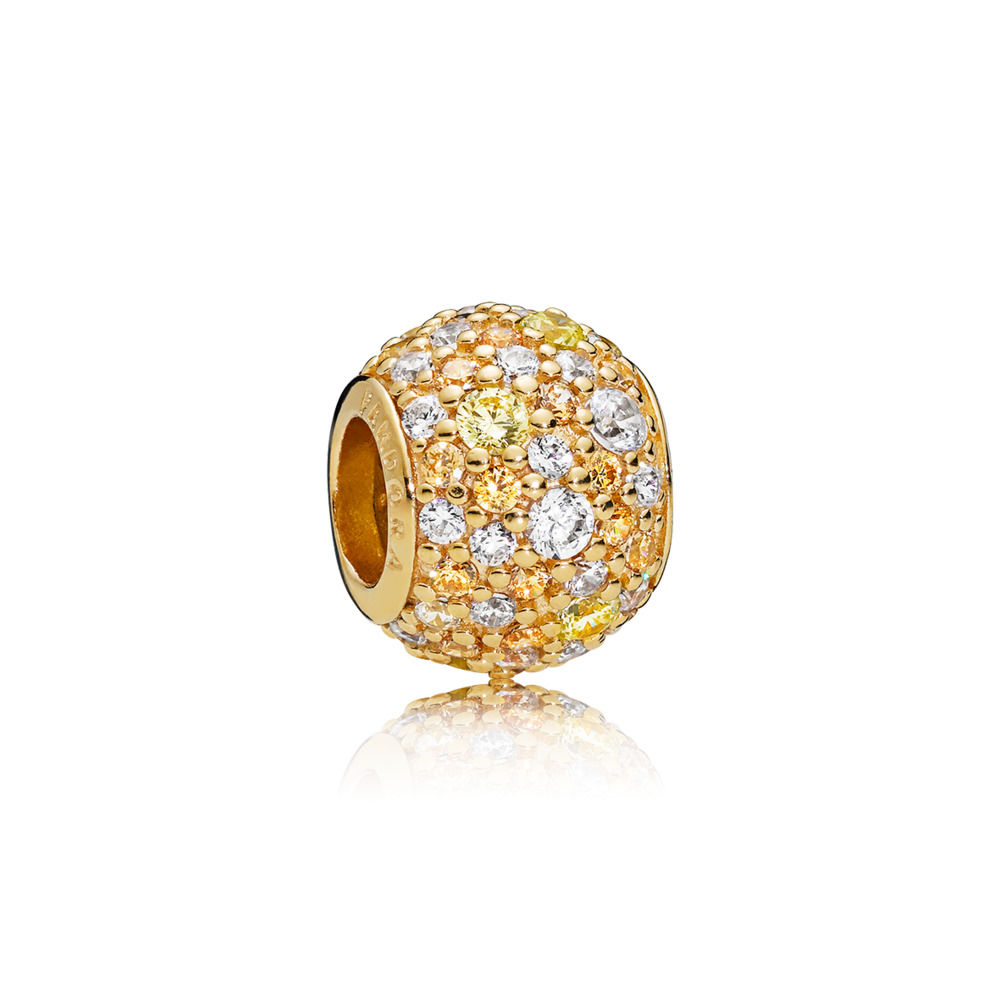 767052CSY PANDORA Shine Golden Pavé Ball Charm spring 2018 new collection