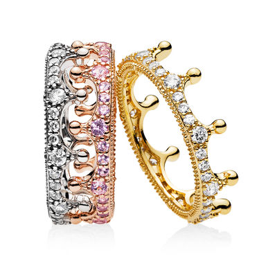 RAU0414 Mixed Metals Enchanted Crown Ring Stack spring 2018 new collection