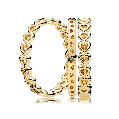 RAU0418 PANDORA Shine Linked Love Ring Stack spring 2018 new collection