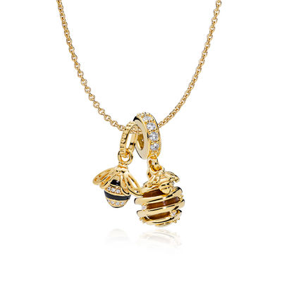 RAU0424 PANDORA Shine Honeybee Necklace Set spring 2018 new collection