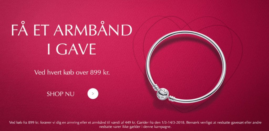ee53d7671 Spend DKK 899 on PANDORA and receive a FREE PANDORA Bracelet worth up to  DKK 449.