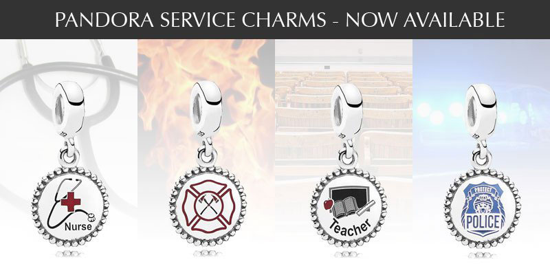 Pandora Engraved Service Charms The