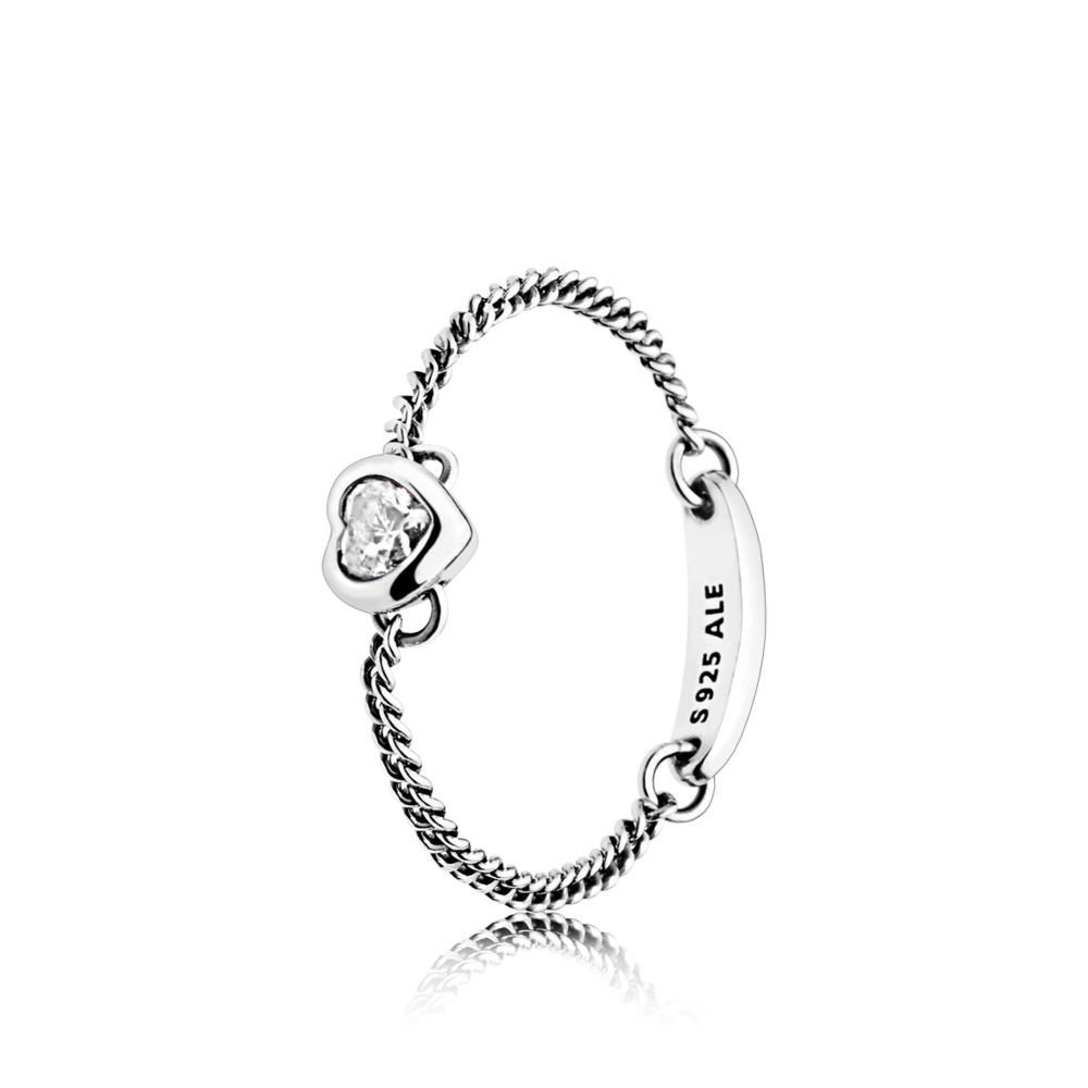pandora summer 2018 chain ring PANDORA Spirited Heart Chain Ring (197191CZ)
