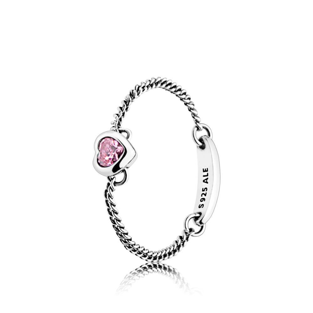 PANDORA Spirited Heart Ring, Pink (197191PCZ)