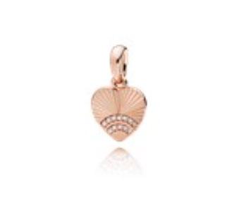 PANDORA Rose Fan of Love Pendant (387286CZ) $60 USD