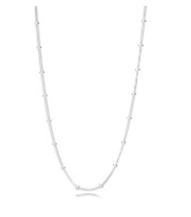 PANDORA Beaded Silver Necklace (397210-70) $75 USD