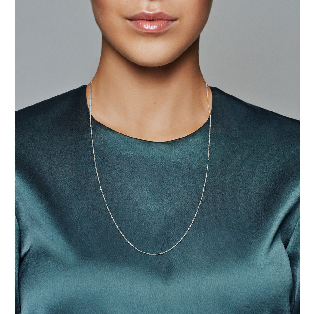 PANDORA Beaded Silver Necklace (397210-70)