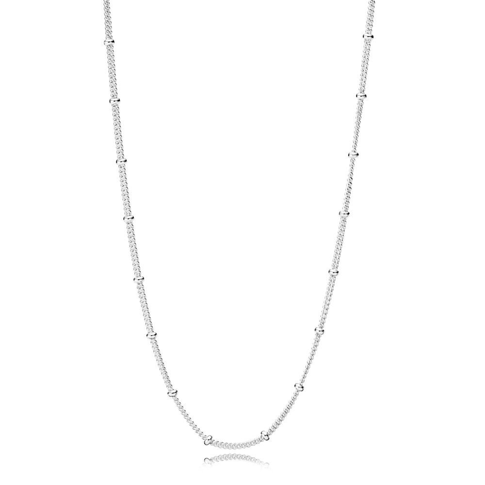 PANDORA Beaded Silver Necklace (397210-70)