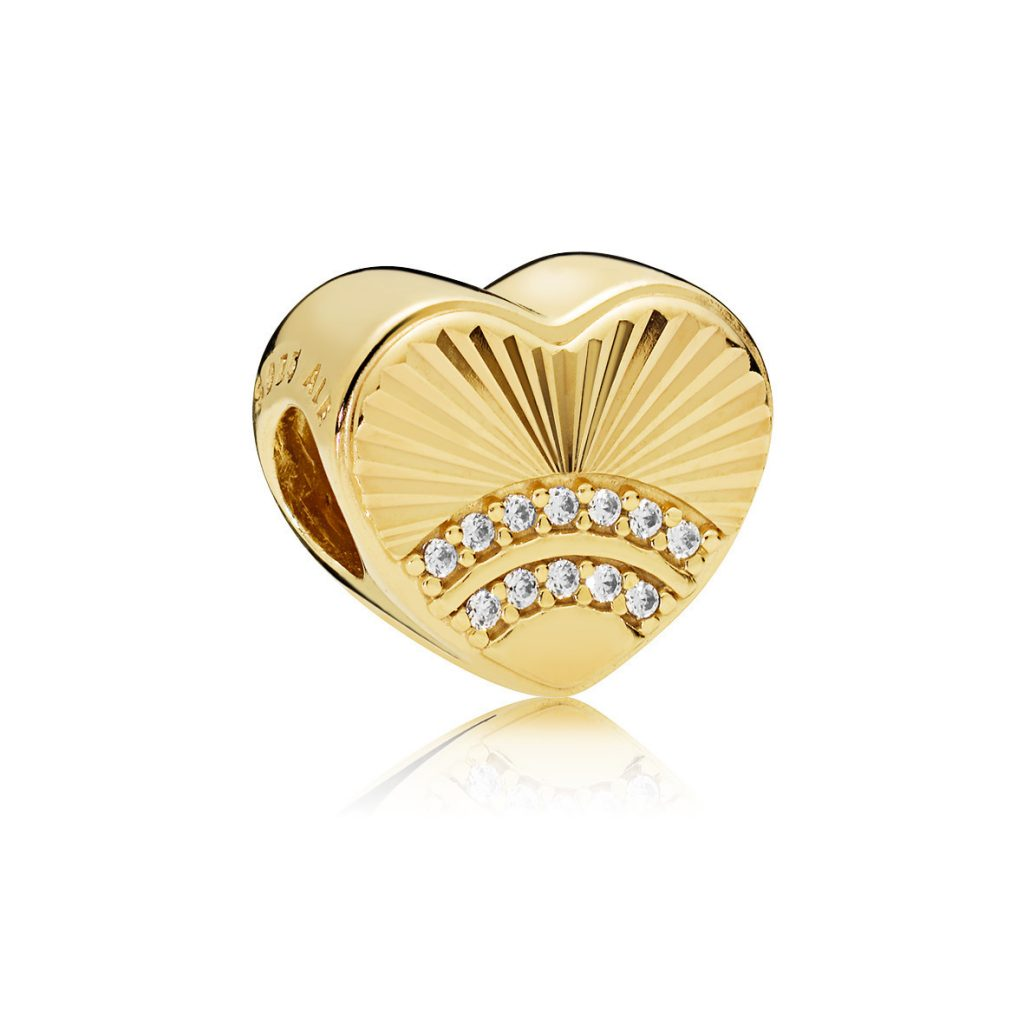 PANDORA Shine Fan of Love Charm (767288CZ) $75 USD
