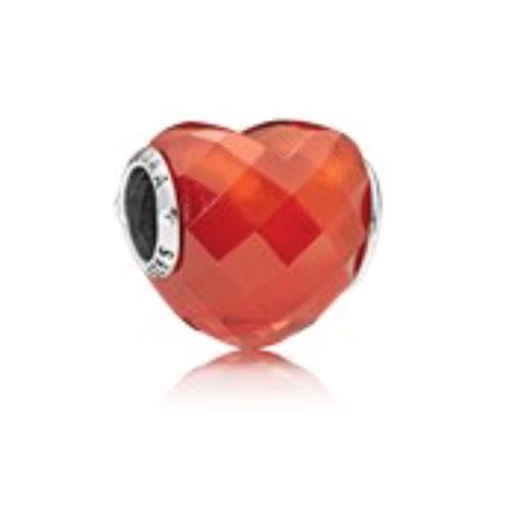 PANDORA Shape of Love, Orange (796563OCZ) $55 USD