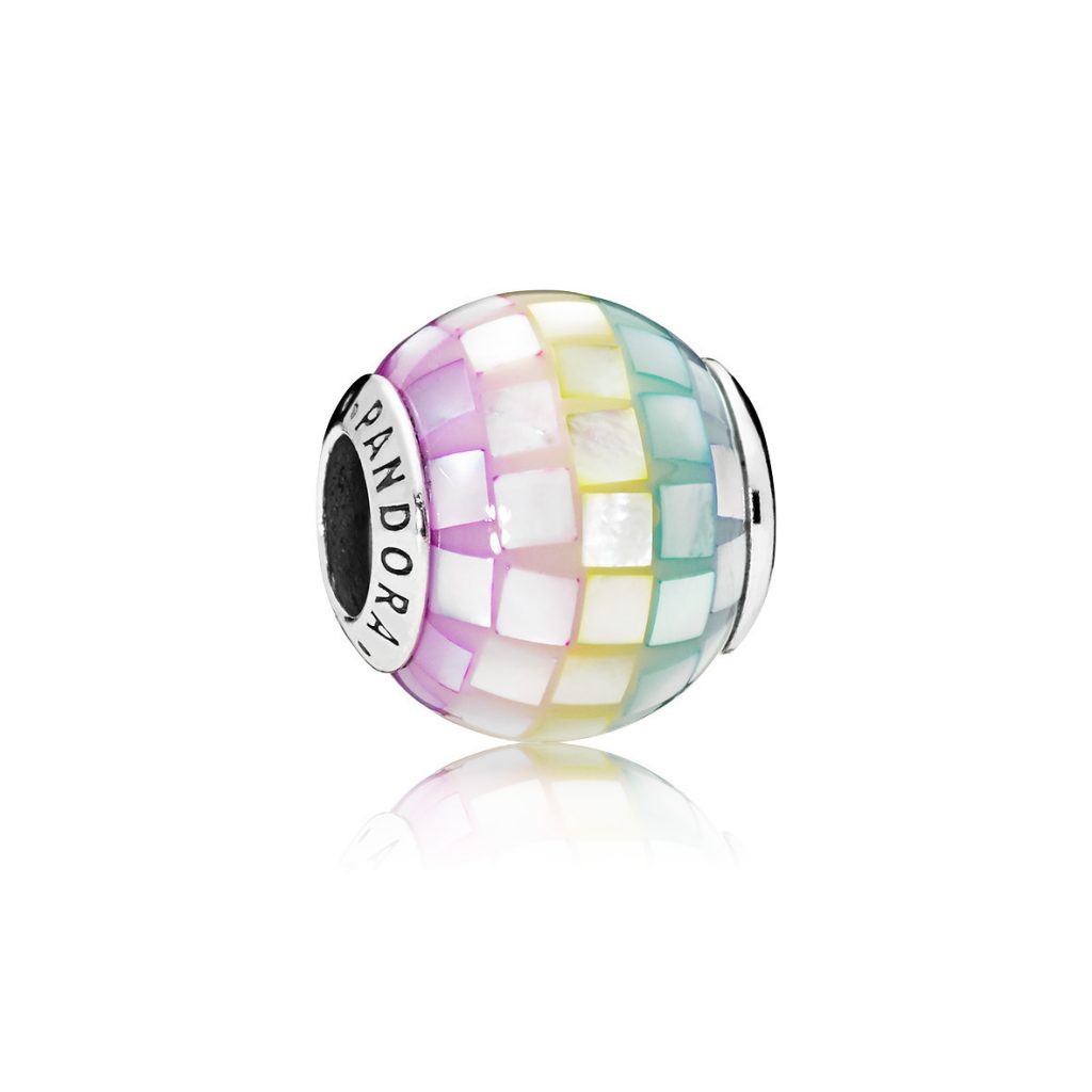 PANDORA Mosaic Mother of Pearl Rainbow Charm (797193MPR) $65 USD