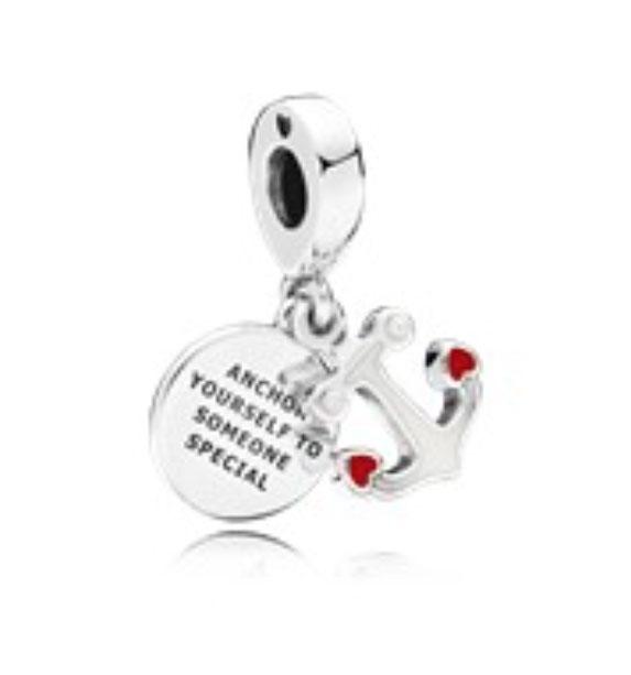 PANDORA Anchor of Love Pendant Charm (797208ENMX) $50 USD