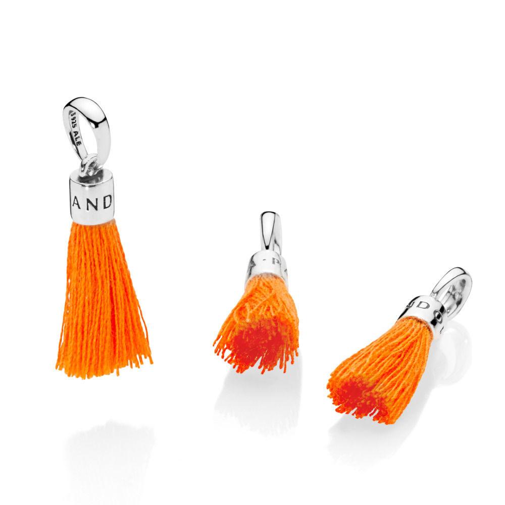 PANDORA Tassel Charm,Orange (797212COE)