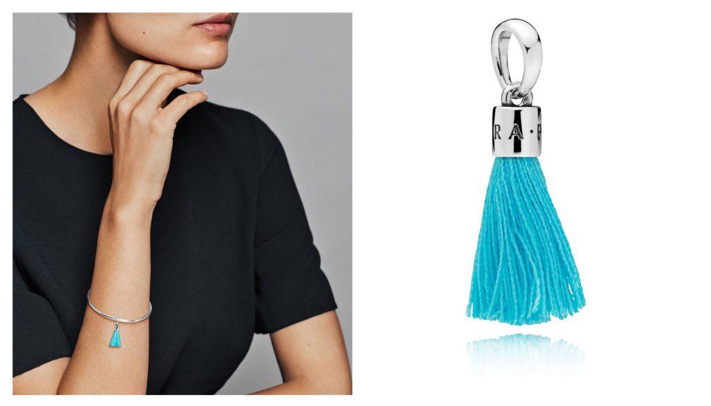 PANDORA Tassel Charm,Turquoise (797212CTQ)