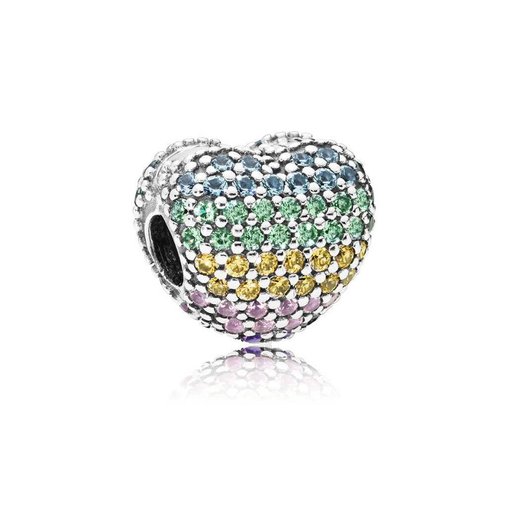 PANDORA Pavé Open My Heart Clip, Multicoloured (797221NRPMX) $75 USD
