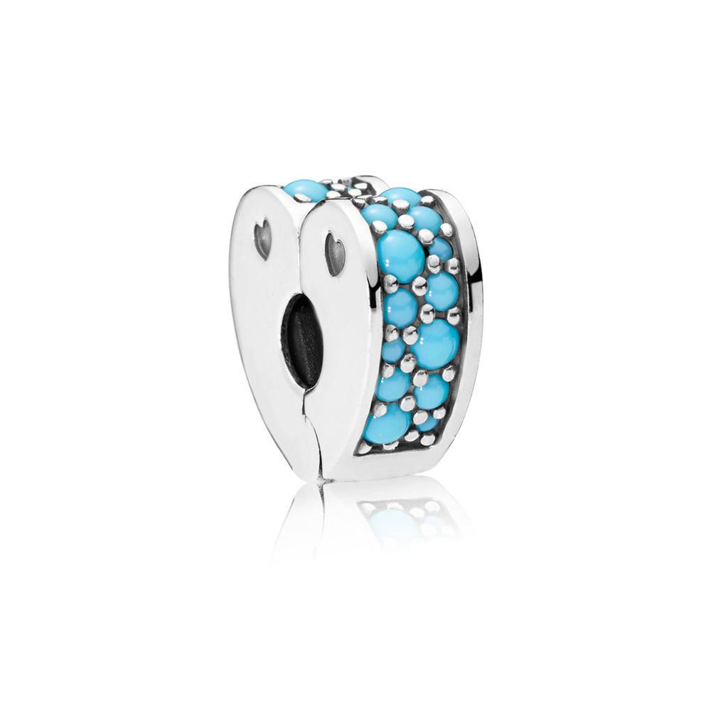 PANDORA Arcs of Love Clip, Blue Crystal (797227NYA)