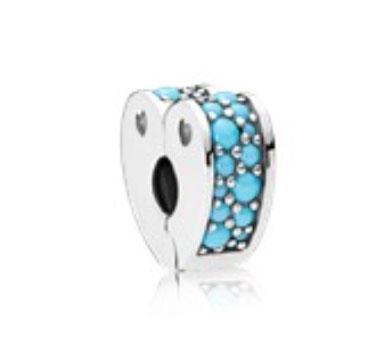 PANDORA Arcs of Love Clip, Blue Crystal (797227NYA) $45 USD