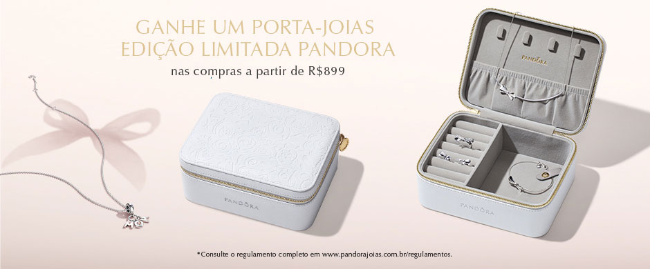 515558db5 Receive FREE beautiful white leather Limited Edition PANDORA jewellery box  with a R$899 spend.