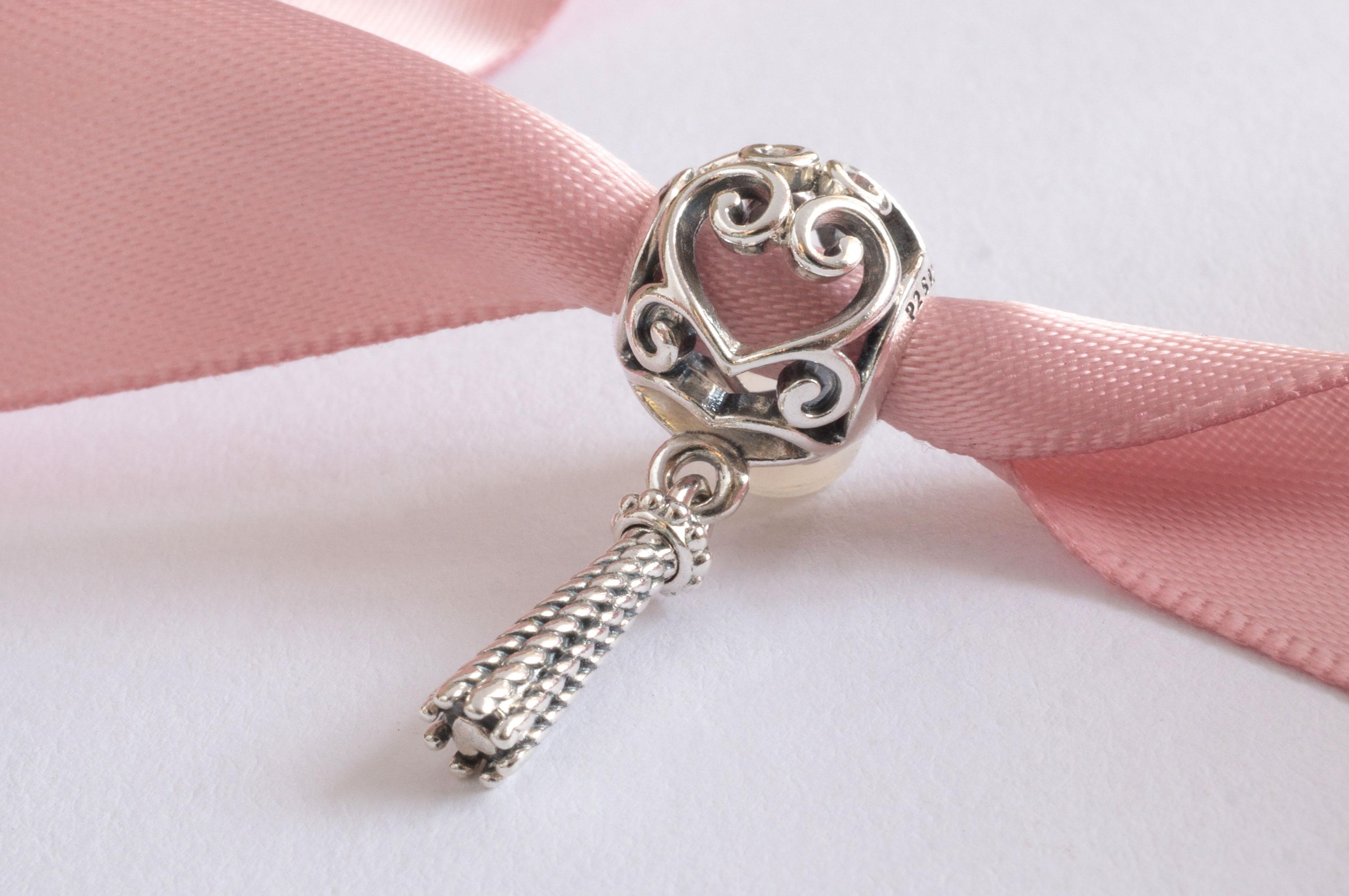 a762117ae8313 PANDORA Enchanted Heart Tassel Pendant