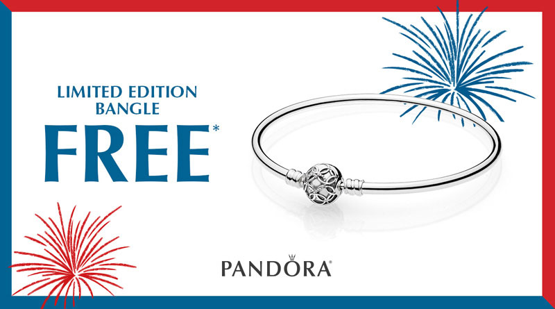 pandora limited edition free celebration bangle us memorial day weekend