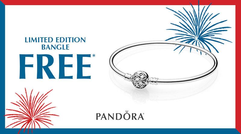 pandora limited edition free celebration bangle us memorial day weekend