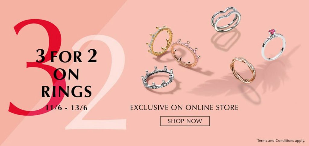 a261bd329 There is double the fun in Hong Kong with a 3 for 2 Ring offer and a PANDORA  sale with up to 50% off!