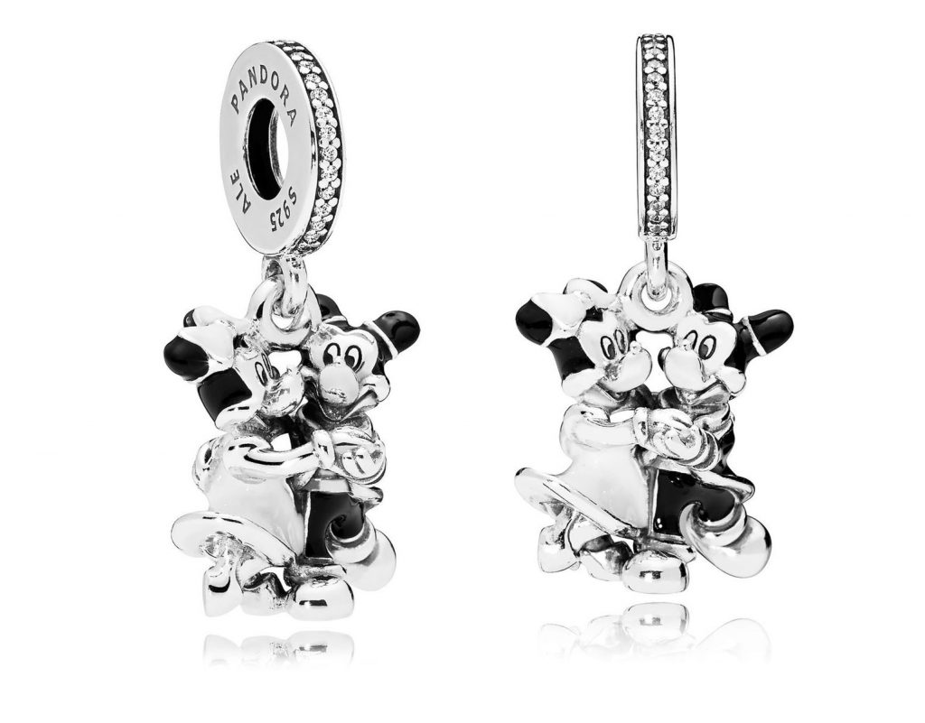 PANDORA Disney Parks Mickey & Minnie Mouse Charm