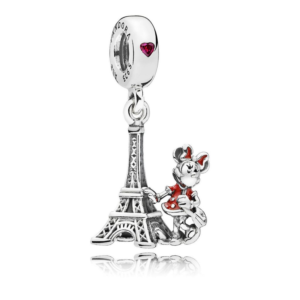 PANDORA DISNEY PARKS Minnie Mouse Eiffel Tower Charm