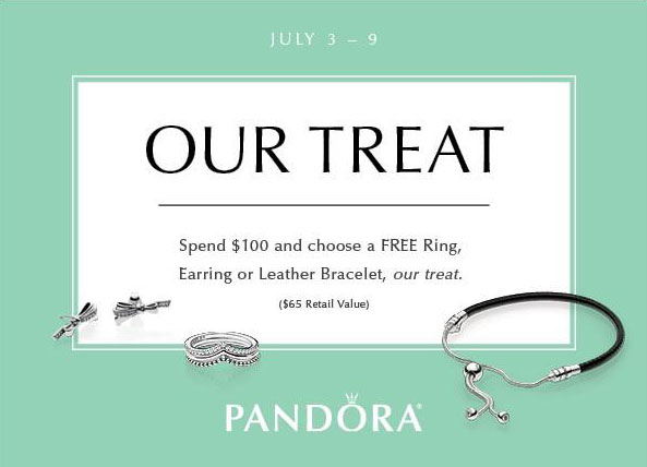 pandora free ring earrings leather bracelet us gwp gift