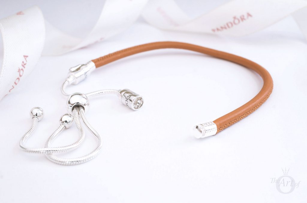 pandora moments sliding leather bracelet PANDORA Sliding Golden Tan Leather Bracelet 597225CGT summer 2018 pre-autumn autumn winter disney new collection release