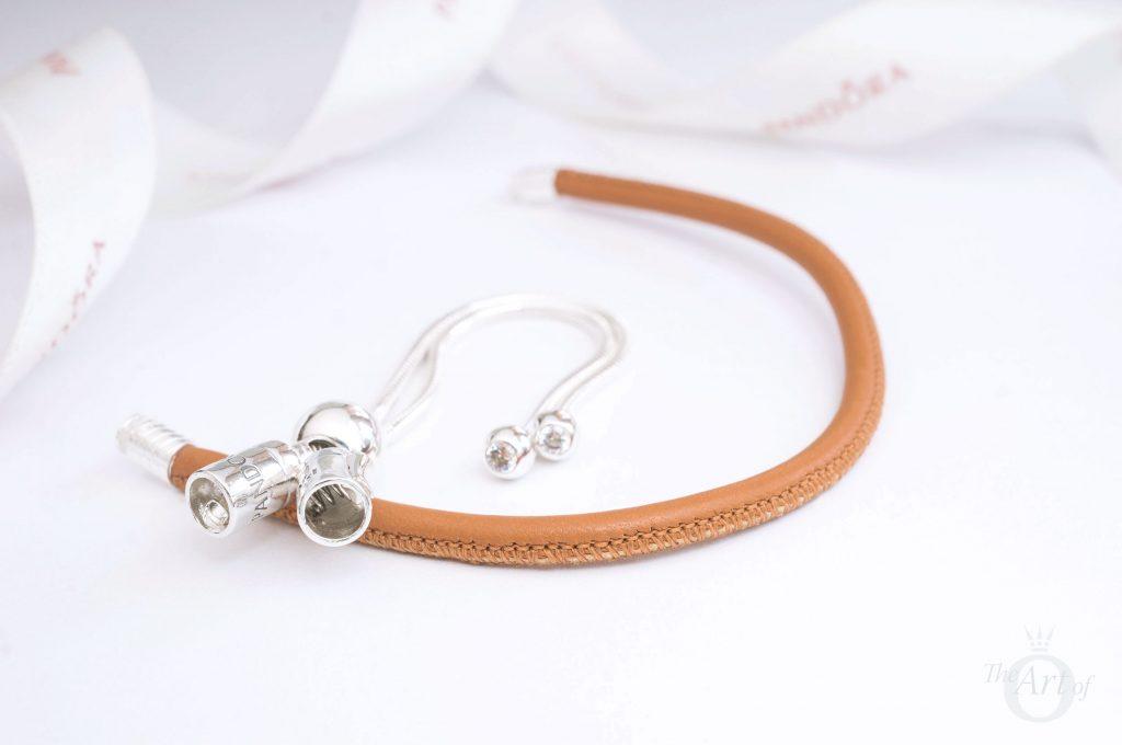pandora moments sliding leather bracelet PANDORA Sliding Golden Tan Leather Bracelet 597225CGT summer 2018 pre-autumn autumn winter disney new collection release