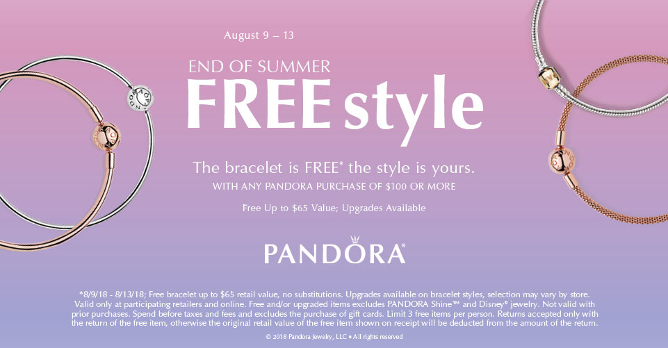 pandora gwp end of summer becharming autumn 2018 winter new collection free bracelet offer promo