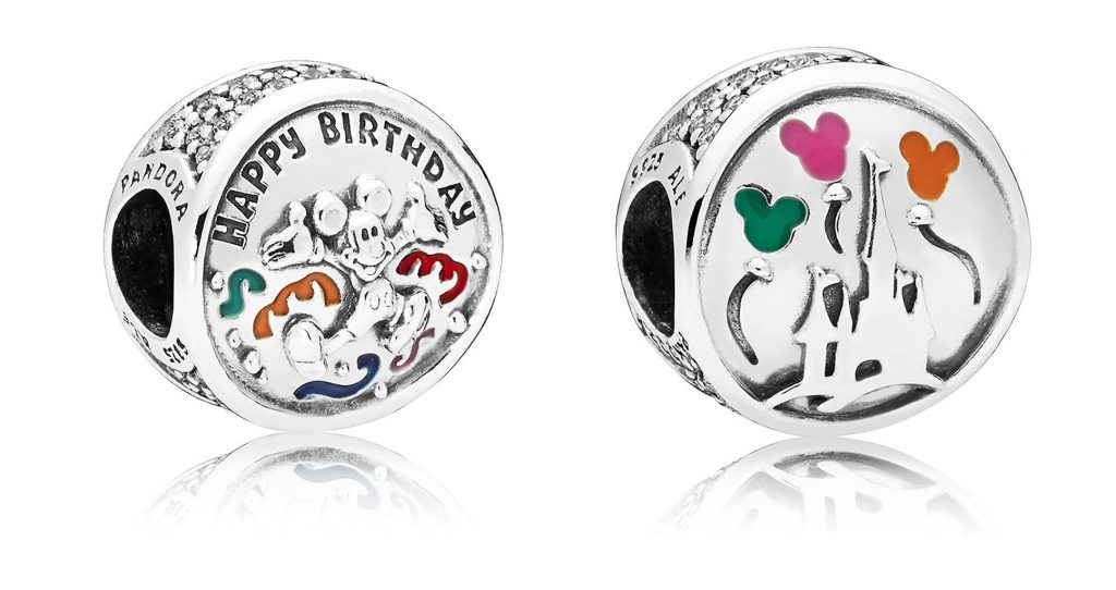 PANDORA disney parks mickey mouse happy birthday charm summer autumn 2018