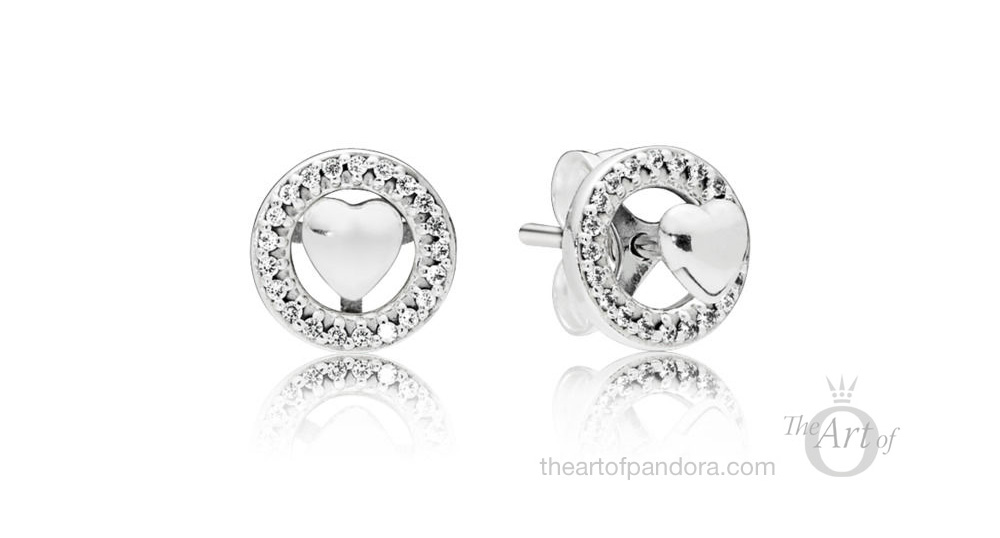 Forever PANDORA Hearts Earrings (297709CZ)