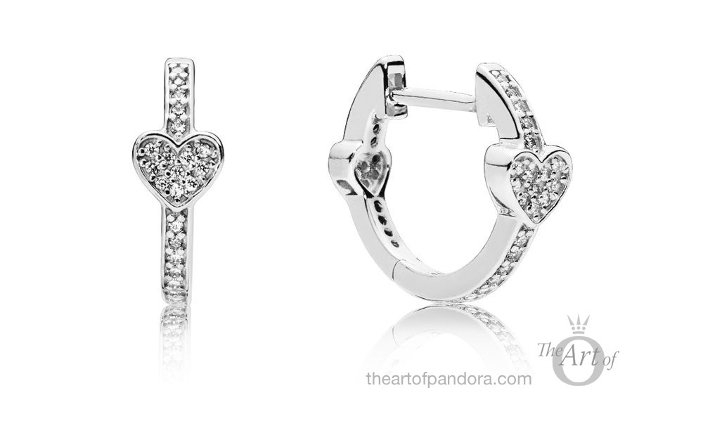 PANDORA Alluring Hearts Hoop Earrings (297290CZ)