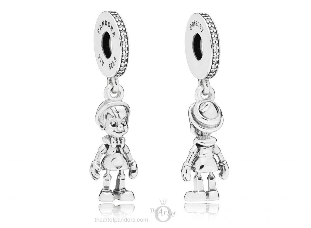 PANDORA Disney Pinocchio Dangle Charm 797489CZ