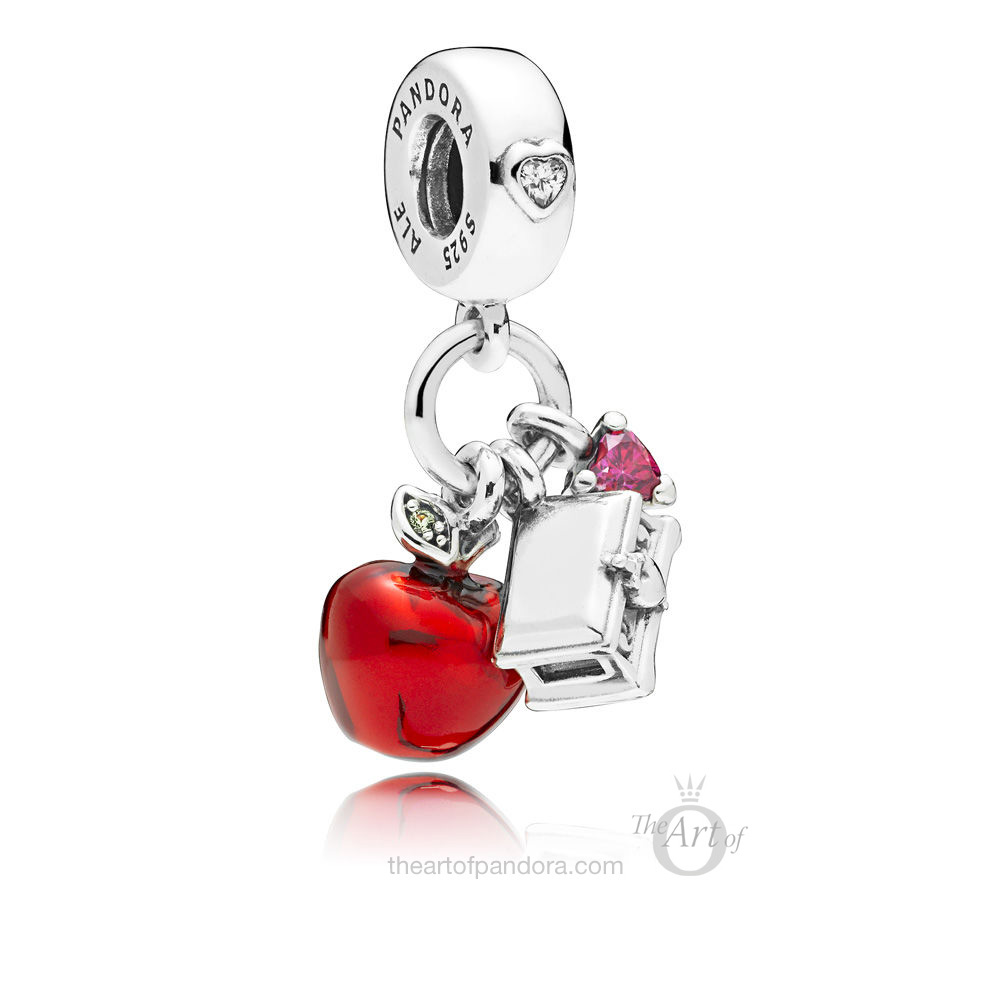 PANDORA Disney Snow White's Apple & Heart Dangle Charm (797486CZRMX)