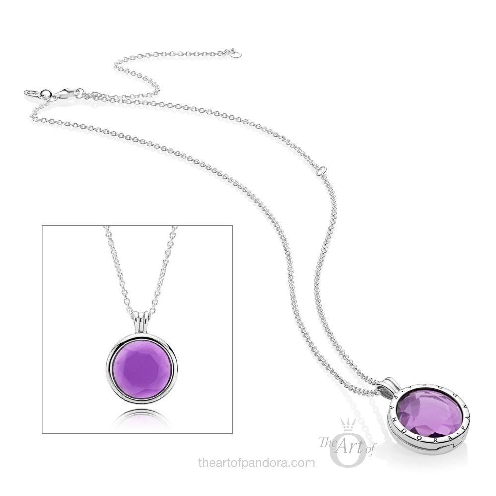 PANDORA Purple Faceted Locket Necklace (397710SAM)
