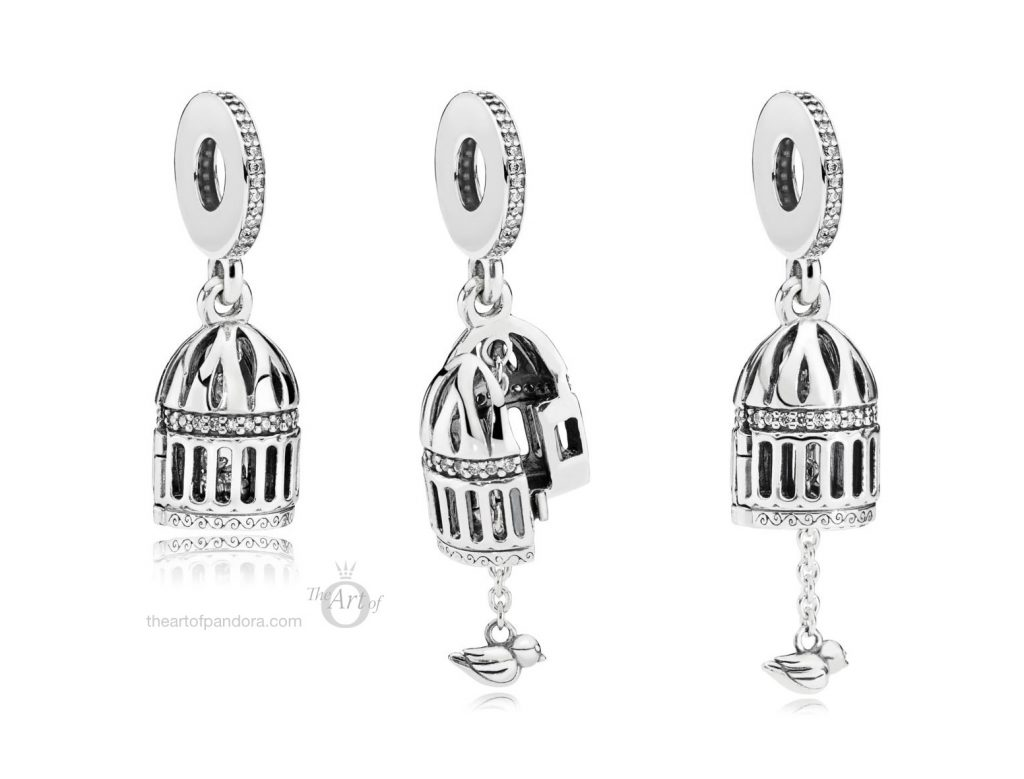 PANDORA Free as a Bird Dangle Charm (797575CZ) autumn 2018 winter new collection