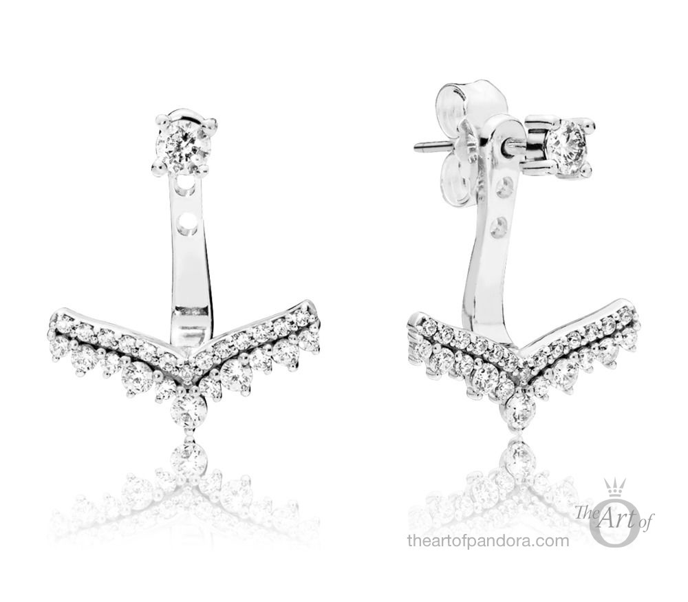 PANDORA Princess Wish Stud Earrings (297739CZ)