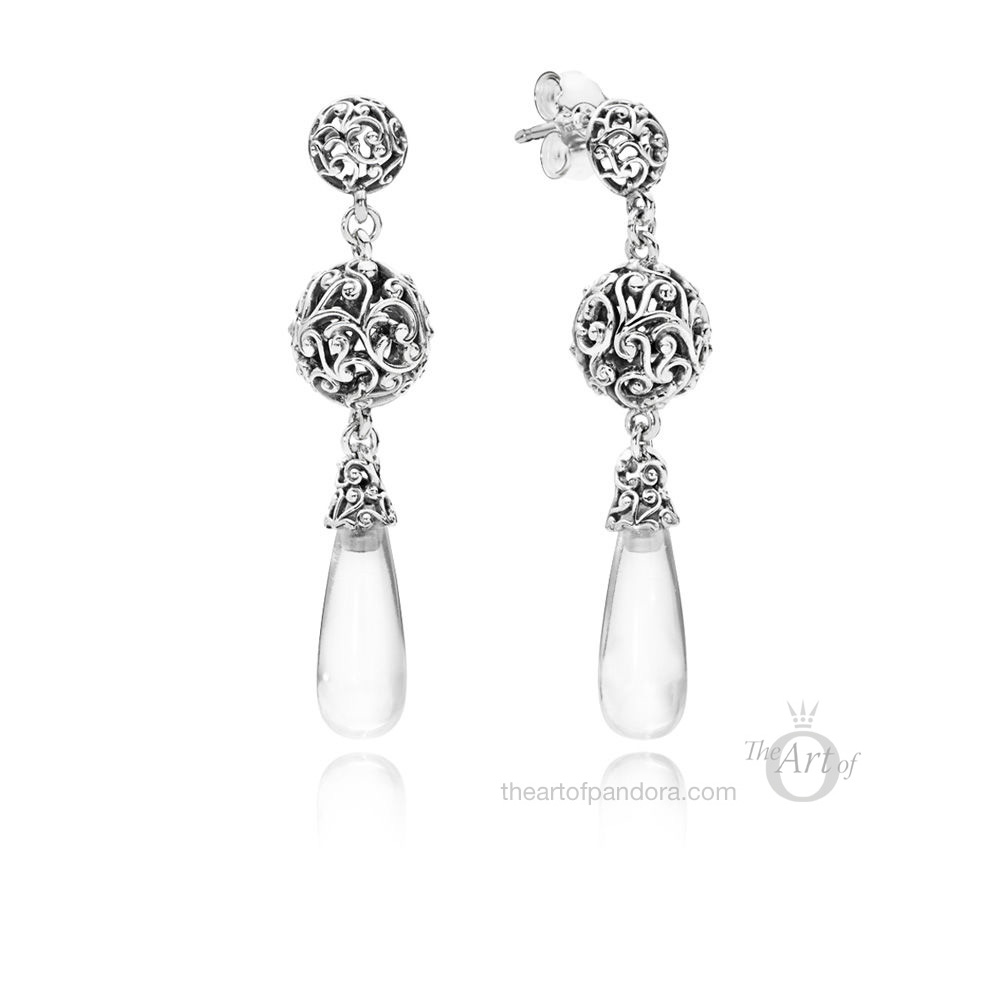 PANDORA Regal Droplets Earrings (297686CZ)