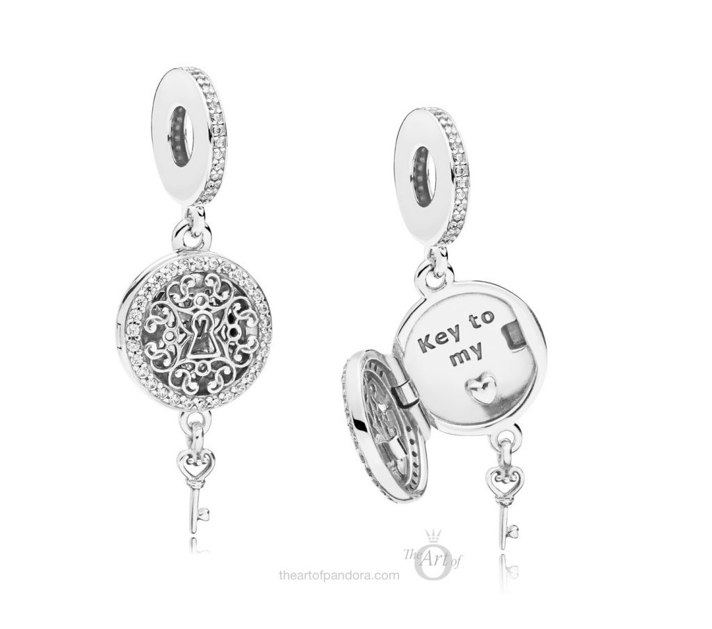 PANDORA Regal Love Key Dangle Charm (797660CZ) pandora autumn winter 2018 new collection