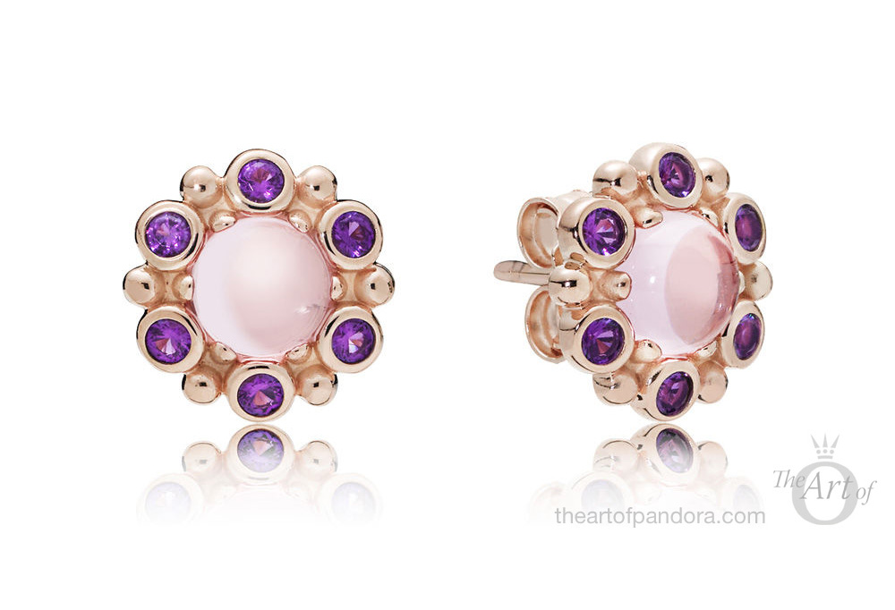 PANDORA Rose Heraldic Radiance Earrings (280721CZ)