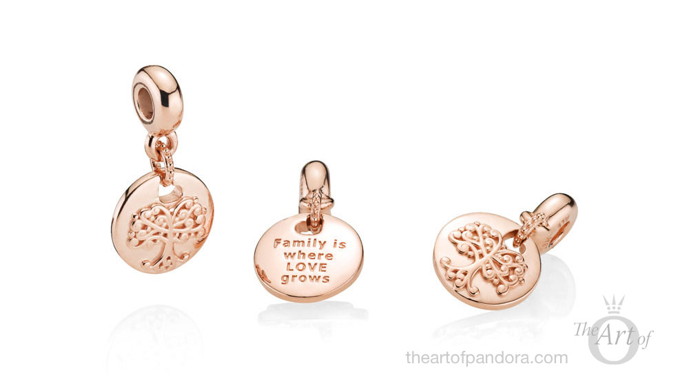 PANDORA Rose Essence In My Heart Dangle Charm (787646)