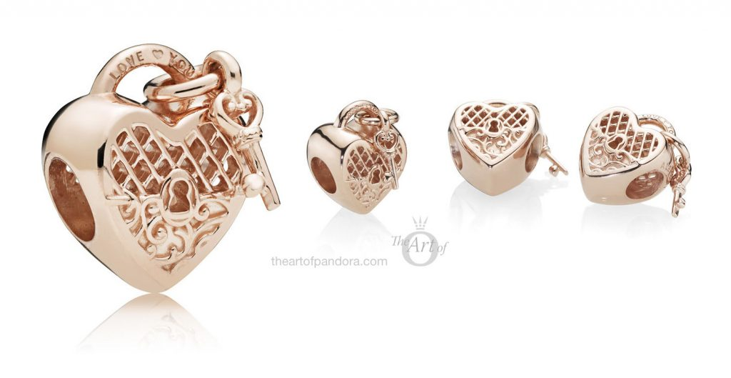 PANDORA Rose Love You Lock Charm (787655)