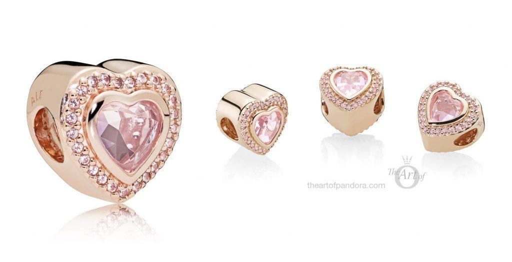 PANDORA Rose Sparkling Love / Sparkling Love Heart Charm (787608NPM)