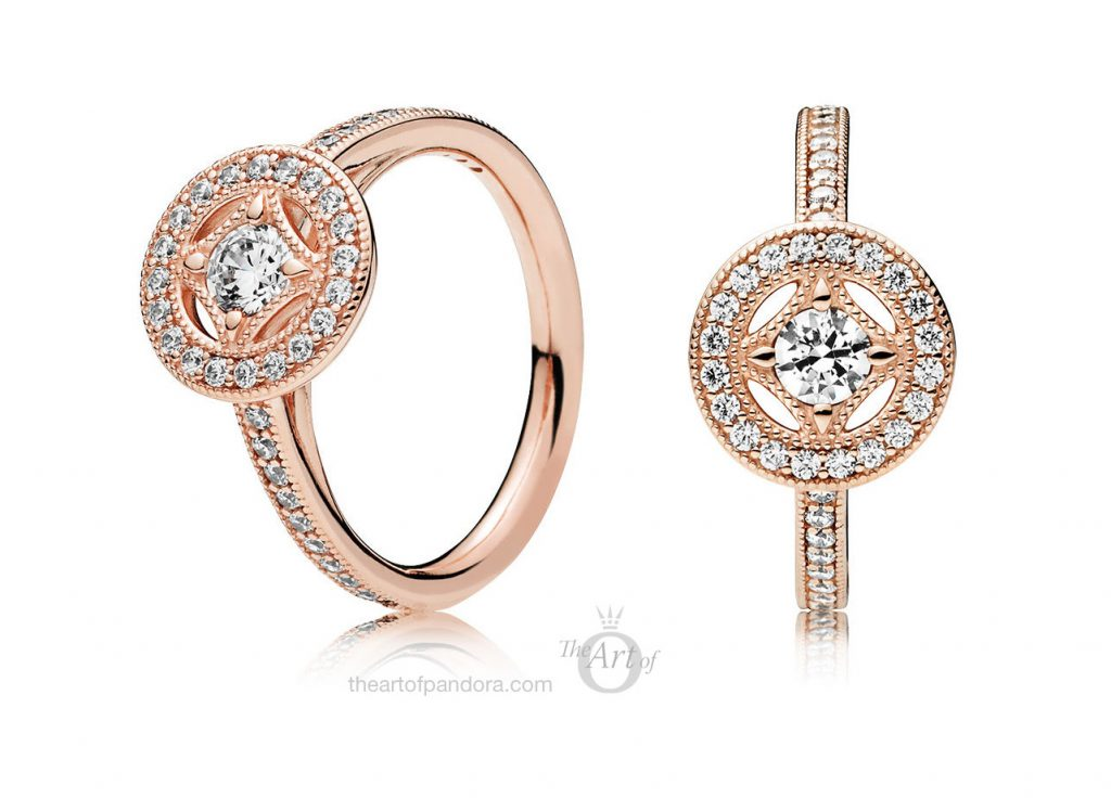 PANDORA Rose Vintage Allure Ring (181006CZ)