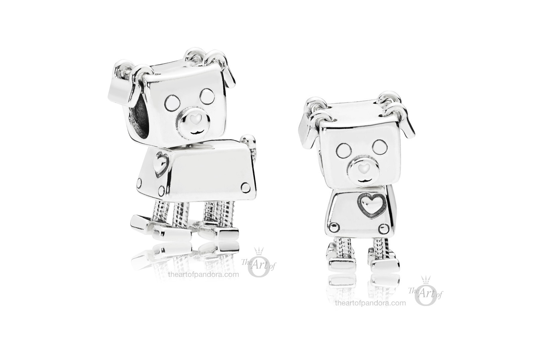 797551en12 Pandora Bobby Bot Dog Charm The Art Of