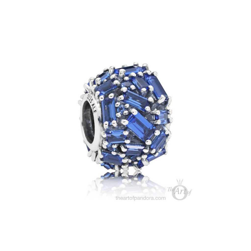 797746NSBL PANDORA Blue Chiselled Elegance Charm winter 2018